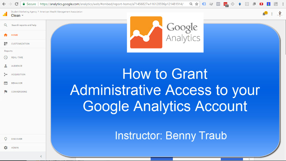 How to Give Full Administrative Access to your Google Analytics account